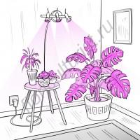 """Настенный регулируемый светодиодный светильник для досветки растений """"Талита"""" 30Вт"""